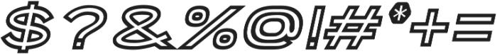 Porter Sans Inline Oblique otf (400) Font OTHER CHARS