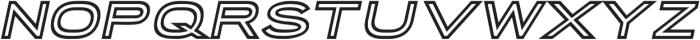 Porter Sans Inline Oblique otf (400) Font UPPERCASE