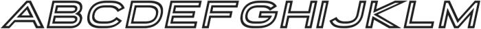 Porter Sans Inline Oblique otf (400) Font LOWERCASE