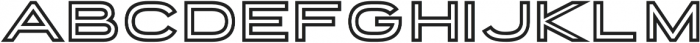 Porter Sans Inline otf (400) Font UPPERCASE