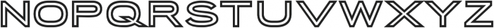 Porter Sans Inline ttf (400) Font UPPERCASE