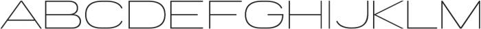 Porter Sans Light otf (300) Font UPPERCASE