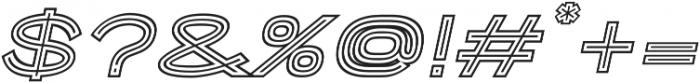 Porter Sans Outline Oblique otf (400) Font OTHER CHARS