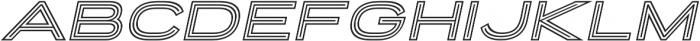 Porter Sans Outline Oblique otf (400) Font LOWERCASE