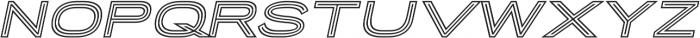 Porter Sans Outline Oblique ttf (400) Font LOWERCASE