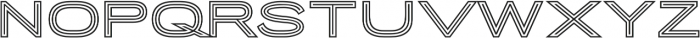 Porter Sans Outline otf (400) Font LOWERCASE