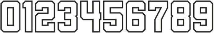 Porterhaus Outline ttf (400) Font OTHER CHARS