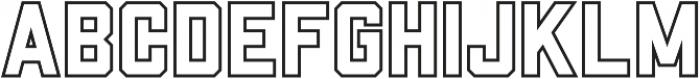 Porterhaus Outline ttf (400) Font UPPERCASE