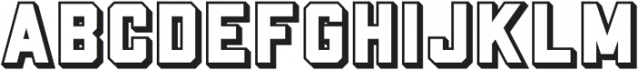 Porterhaus Shadow ttf (400) Font UPPERCASE