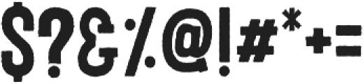 Porthem Rough otf (400) Font OTHER CHARS