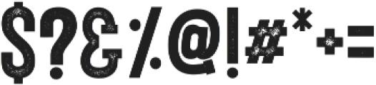 Porthem Stamp otf (400) Font OTHER CHARS