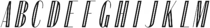 Portia Display Oblique otf (400) Font UPPERCASE