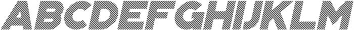 Portico Diagonal Oblique otf (400) Font UPPERCASE
