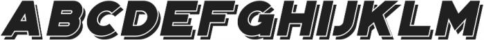 Portico Layer Oblique otf (400) Font UPPERCASE