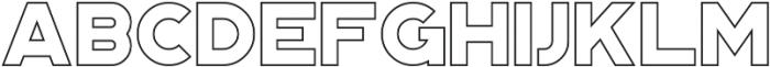 Portico Outline otf (400) Font UPPERCASE