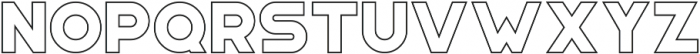 Portico Outline otf (400) Font LOWERCASE