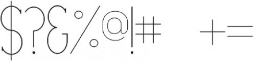 Portland Serif Light otf (300) Font OTHER CHARS