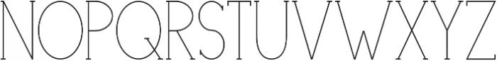 Portland Serif Light otf (300) Font UPPERCASE