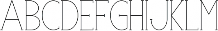 Portland Serif Light otf (300) Font LOWERCASE