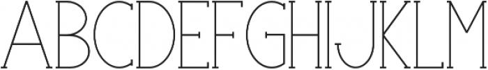 Portland Serif Regular otf (400) Font UPPERCASE