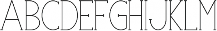 Portland Serif Regular otf (400) Font LOWERCASE