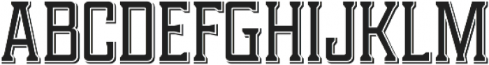 Portsmouth Drop Shadow otf (400) Font UPPERCASE