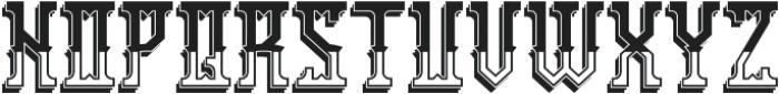 Portsmouth ShadowAndLight otf (300) Font UPPERCASE