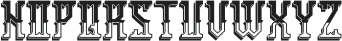 Portsmouth ShadowAndLight otf (300) Font LOWERCASE