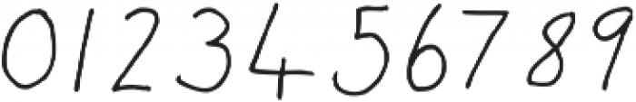 Post Love Regular otf (400) Font OTHER CHARS