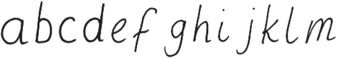 Post Love Regular otf (400) Font LOWERCASE