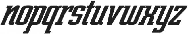 Posterface Italic Italic otf (400) Font LOWERCASE