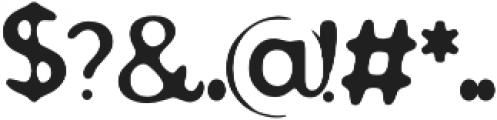 Postmark otf (400) Font OTHER CHARS