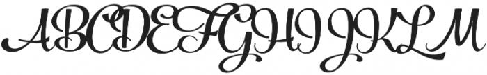 Powder Script Black Regular otf (900) Font UPPERCASE
