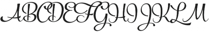Powder Script Regular Regular otf (400) Font UPPERCASE