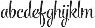 Powder Script Regular Regular otf (400) Font LOWERCASE