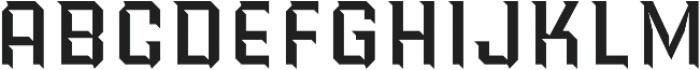 Power Station Wedge High Regular otf (400) Font UPPERCASE