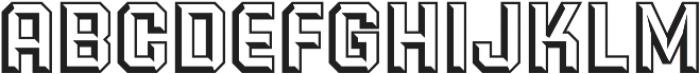 Power Station Wedge Regular otf (400) Font UPPERCASE