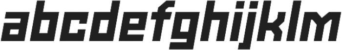 Powerlane Black Oblique otf (900) Font LOWERCASE
