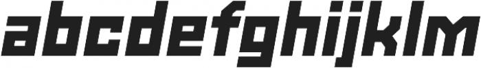 Powerlane Extra Black Oblique otf (900) Font LOWERCASE