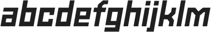 Powerlane Extra Bold Oblique otf (700) Font LOWERCASE
