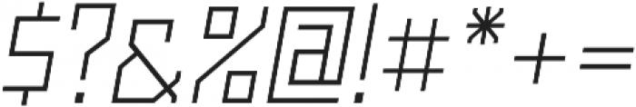 Powerlane Light Oblique otf (300) Font OTHER CHARS