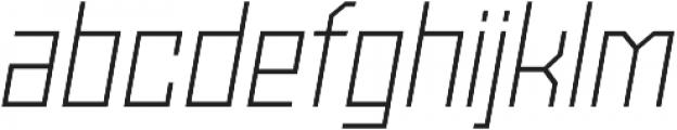 Powerlane Light Oblique otf (300) Font LOWERCASE