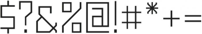 Powerlane Light otf (300) Font OTHER CHARS