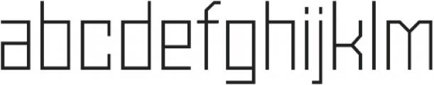 Powerlane Light otf (300) Font LOWERCASE