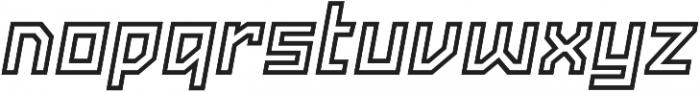 Powerlane Outline Oblique otf (400) Font LOWERCASE