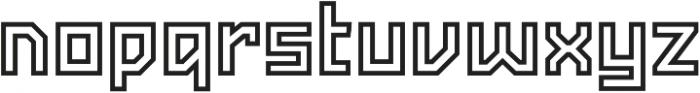 Powerlane Outline otf (400) Font LOWERCASE