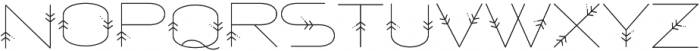 Powhatan Detailed otf (400) Font LOWERCASE