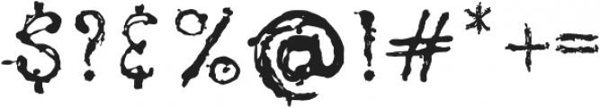 pollock ttf (400) Font OTHER CHARS
