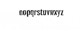 PocusPrimeraDistorted.ttf Font LOWERCASE