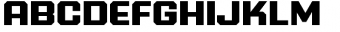 PowerStation Solid Wide Font UPPERCASE